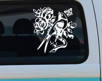 Old School Bird Tattoo Vinyl Decal Sticker - Car Decal - Tattoo Decal - Bird Car Decal - Tattoo - Old School Tattoo - Bird - Old School Bird