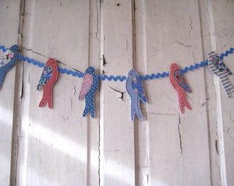 Handmade BLUEBIRD BANNER Bunting Garden Photo Banner