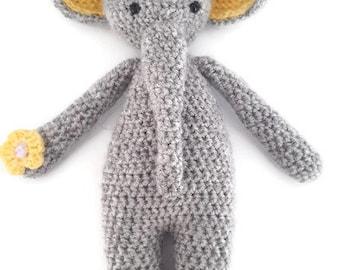 Handmade crochet amigurumi elephant toy