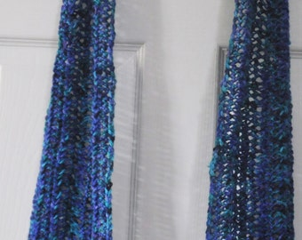 Hand Crocheted yarn scarf
