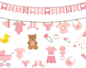 baby shower clipart etsy