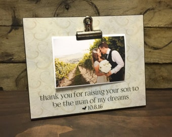 Parents Of The Groom Gift, Wedding Gift, Thank You For Raising Your Son To Be The Man Of My Dreams