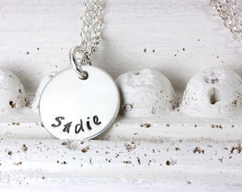 Personalized Necklace - Hand Stamped Jewelry - Personalized Necklace - Sterling Silver Necklace - Dainty - Christina Guenther
