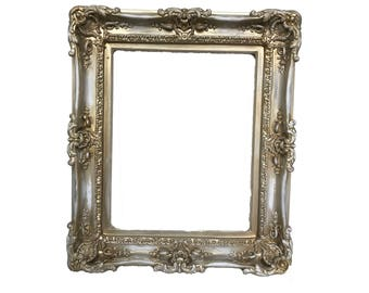 16x20 Distressed Shabby Chic Frames, Baroque Frame, Frame for Canvas, Frame for Painting, Large Picture Frame, Ornate Frame, Wedding Frame,