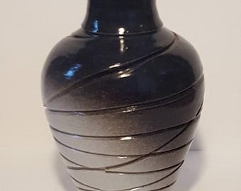 Black and White Carved Vase