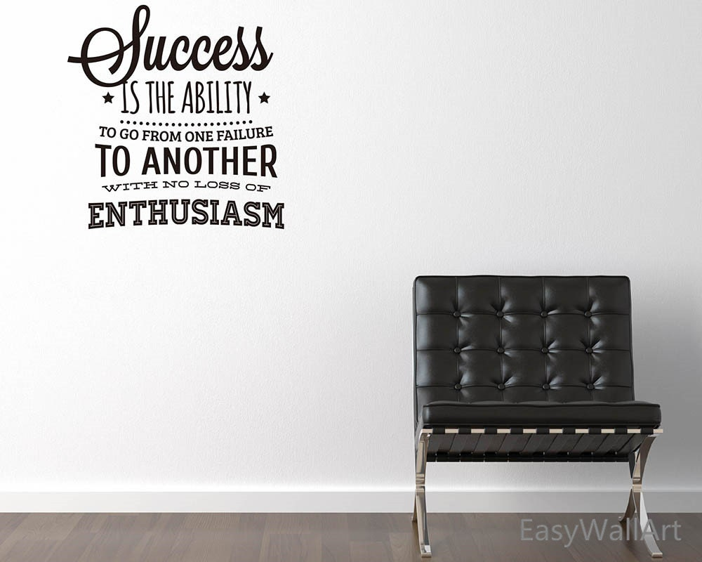 Success Is The Ability Office Wall Quotes Decal For - Custom vinyl decals quotes beginning business
