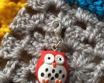 Owl stitch marker progress keeper