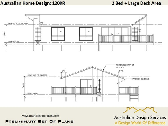 2 Bedroom House Design | Narrow Lot House Plan SALE | 89 M2 Living Area Or  Total 102.3 M2 Or 1291 Sq Foot