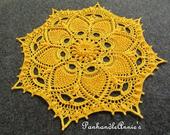 Handmade Textured Prickly Pineapple Doily