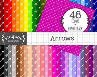 Arrow Digital Scrapbook Paper, Craft Paper, Instant Download, Commercial Use, Modern Paper, Rainbow, Printable Paper, Card Maki
