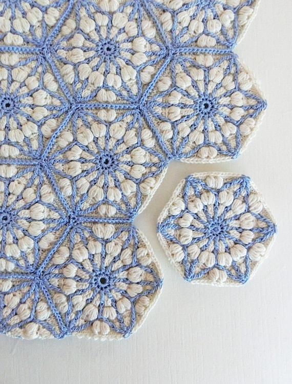 Crochet Blanket Pattern The Asanoha Hexagon Crochet Afghan