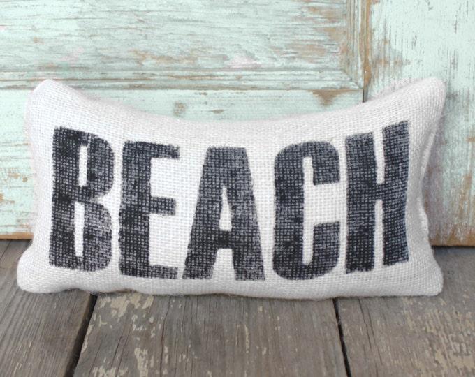 Beach -  Burlap Feed Sack Doorstop - Coastal Door Stop