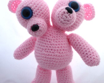 Crocheted Two Headed MutaTED™ - Light Pink