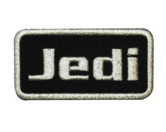 """Star Wars """"Jedi"""" Iron-On Patch Name-Tag DIY Cosplay Costume Accessory Applique"""