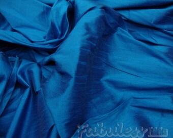 Imperial Blue Shantung Dupioni Faux Silk fabric per yard