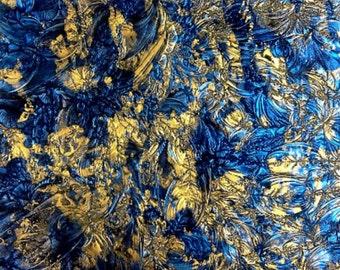 Sheet - BRONZE BLUE Van Gogh Art Glass Stained Glass Mosaic Supply