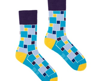 Abstraction abstract socks | men socks | casual socks | happy socks | women socks | funny socks | patterned | colorful geometric socks