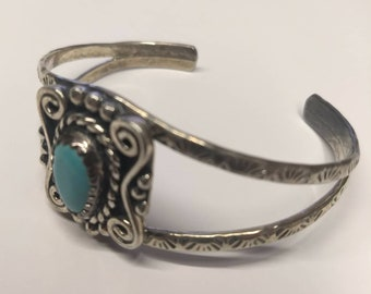 Sterling Silver and Turquoise Southwest Bracelet