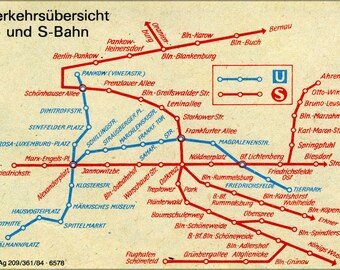 Poster, Many Sizes Available; Public Transport Map, Subway And S-Bahn In East Berlin 1984