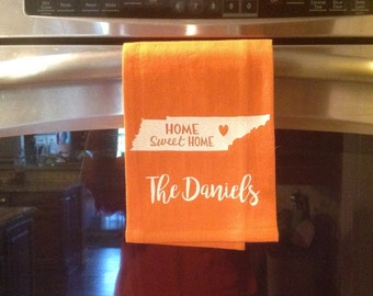 Personalized Dishtowel - Tennessee - Home Sweet Home - Tennessee Towel - Hostess Gift