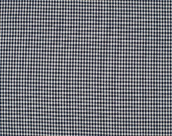 Marine2mm blue gingham fabric 100% cotton