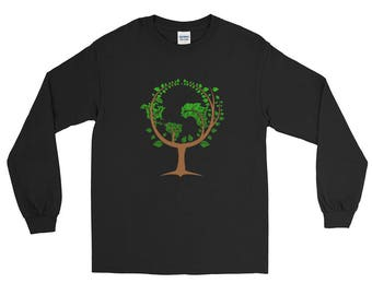Happy Earth Day Long Sleeve T-Shirt--Save The Earth Shirt--Go Green Shirt--Earth Day April 22 T-shirt