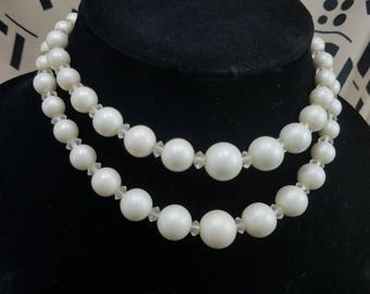 Classic & Elegant!  Faux Pearl Double Strand Necklace from Japan