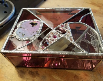 Jewelry box, stained glass box, Mother's Day gift, bridesmaid gift, birthday gift.