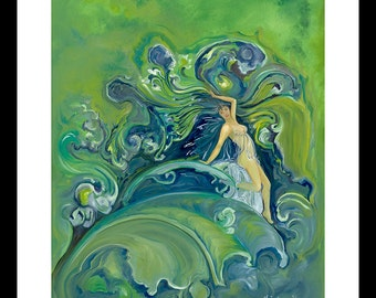 Mother Gift, Mom Gift, Mother's Day, Beach House Wall Art, Coastal Art, Mermaid, Wall Art, Ocean, Under the Sea, Abstract, Surreal