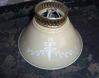Lamp shade vintage etsy ie quick view vintage metal lamp shade greentooth Choice Image