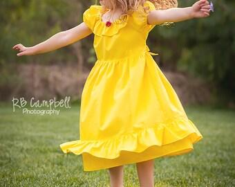 Belle Dress - Belle Costume - Belle Dress - casual princess dress  - Yellow princess Dress - Beauty and the Beast Dress - Princess Dress