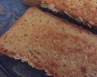 Honey Oat Bread: Gluten free/ rice free!