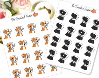 Vet Reminder Dogs- Hand Drawn Planner Sticker Sheet