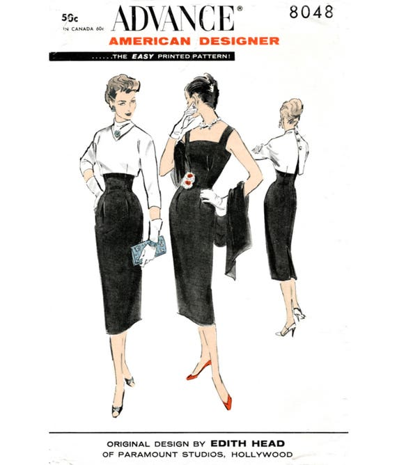 1950er Jahre Kleid Vintage Schnittmuster Reproduktion / /