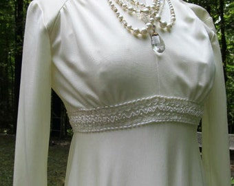 Sale - Sale -1940's Look Glamour Ivory Bridal Gown