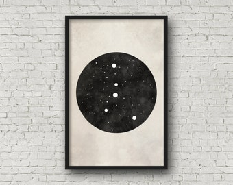 Wall Art Prints, Cancer Constellation, Cancer Art, Zodiac Art, Zodiac Constellation, Art Print Poster, Wall Art Prints