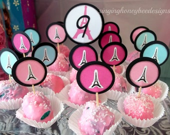 Paris cake toppers, Eiffel tower cake toppers, Paris birthday party, Paris baby shower, Paris bridal shower, Eiffel tower party decor