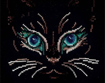 Cross Stitch Kit Gaze (cat) B-27