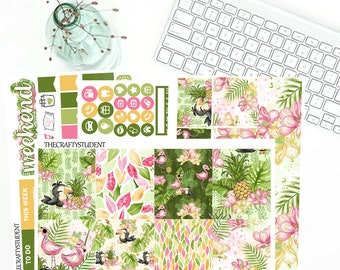 In The Wild -- Mini Kit for ECLP Vertical, EC Full Weekly Kit, Planner Stickers