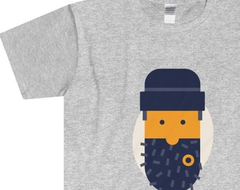 Beard Barber  MenS Fitted Short Sleeve T-Shirt With Custom Design Illustration
