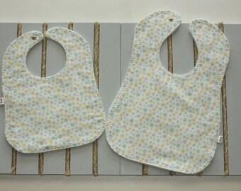 Custom Bibs/Gender Neutral Baby Bib/Infant Washable Cotton Bib/Toddler Washable Cotton Bib/Handmade Bib/Wooden Teether/Custom Burp cloth