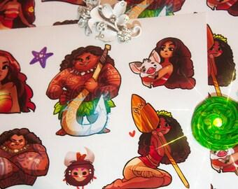 Moana Princess Disney cute stickers #15