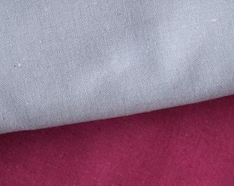 "CLEARANCE - Designer Linen by Free Spirit in Blue- Linen/Cotton Blend- Last Piece 98cm/38.5"""