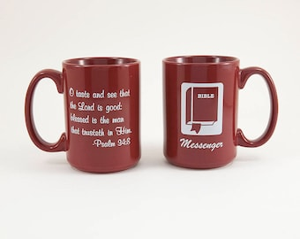 Mugs with Inspirational  Scripture Verses Small 15oz