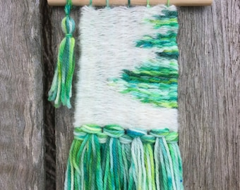 Handwoven Wallhanging - Emerald City Lights