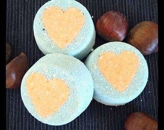 Effervescent vanilla grapefruit organic bath bomb