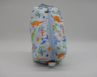 Dinosaurs Toy Bag, Toddler's Gadget Bag, Ditty Bag, Toiletry Kit, Travel Bag, Snack Pouch, Gifts for Boys, Dinosaur Gifts
