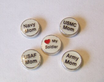 NEW!!! NEW!!! Military Floating Charms, will fit into any brand of floating locket necklace...CHOOSE 1