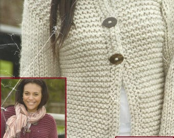 Instant Download - PDF-Lovely Easy Knit Jacket Knitting Pattern (K37)