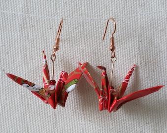 Handmade Origami Crane Earring